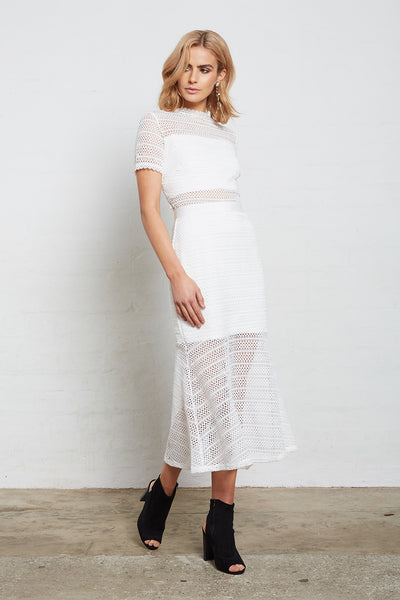 SUPERIOR LACE MIDI DRESS