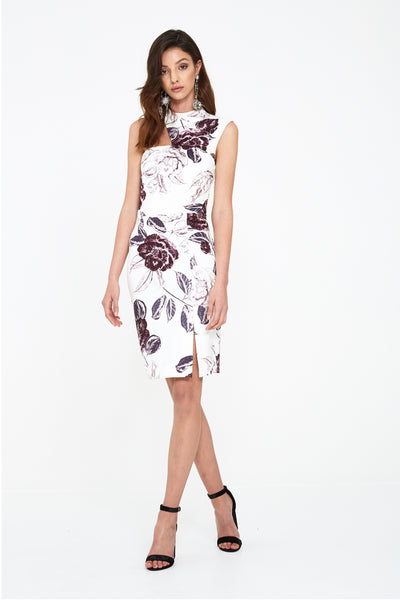 SEEKER FLORAL BODYCON DRESS