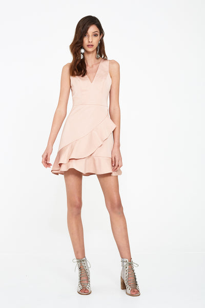 SEEKER V-NK FRILL DRESS
