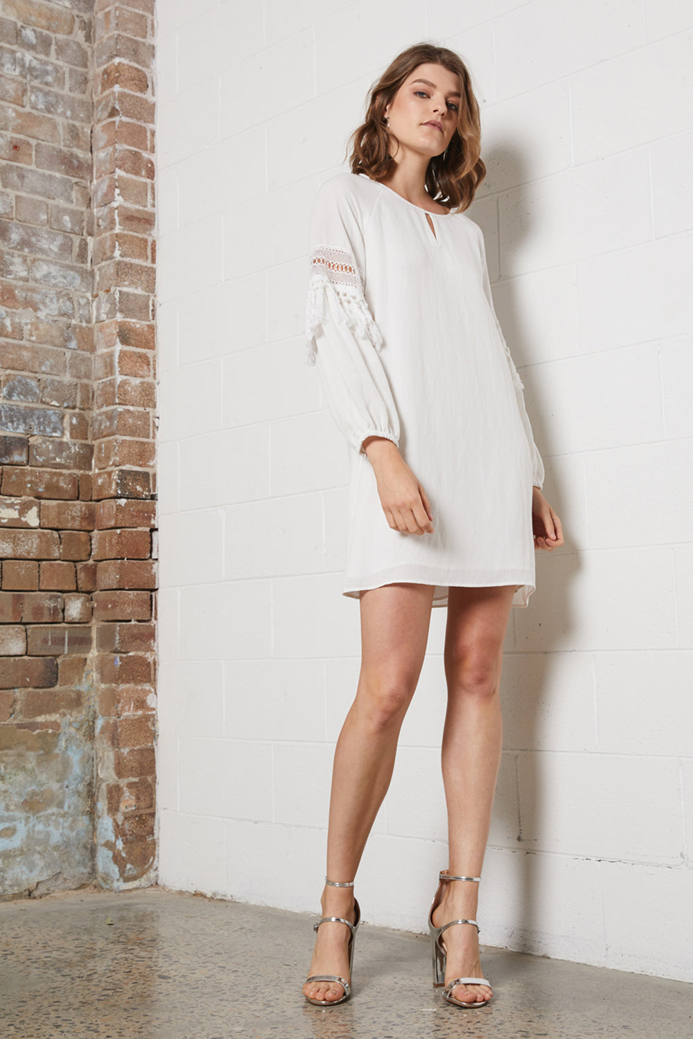 DELICATE FRINGE DRESS