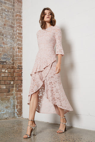 DELICATE LACE LONG DRESS