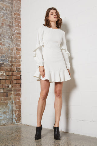 DREAMER SLV DETAIL MINI DRESS