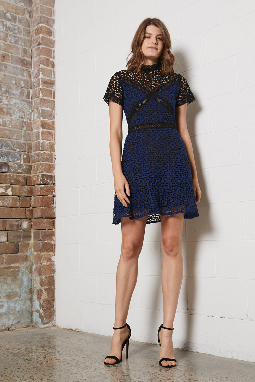 DREAMER SPLICE MINI DRESS