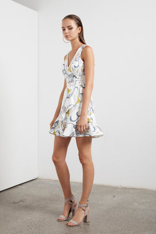 ETHEREAL FLORA MINI DRESS
