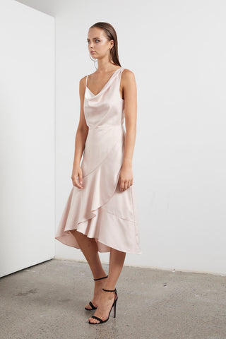 ETHEREAL COWL NK DRESS