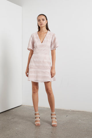 ETHEREAL LACE MINI DRESS