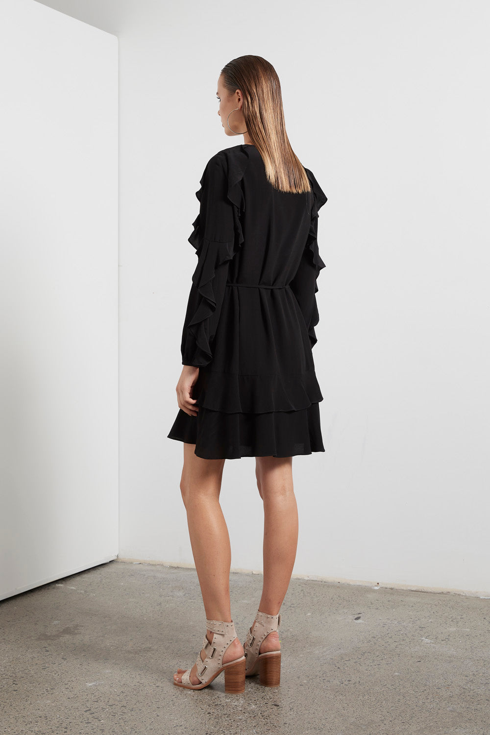ECLIPSE RUFFLE DRESS