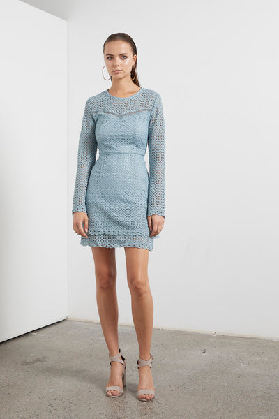 ECLIPSE LACE L/S DRESS