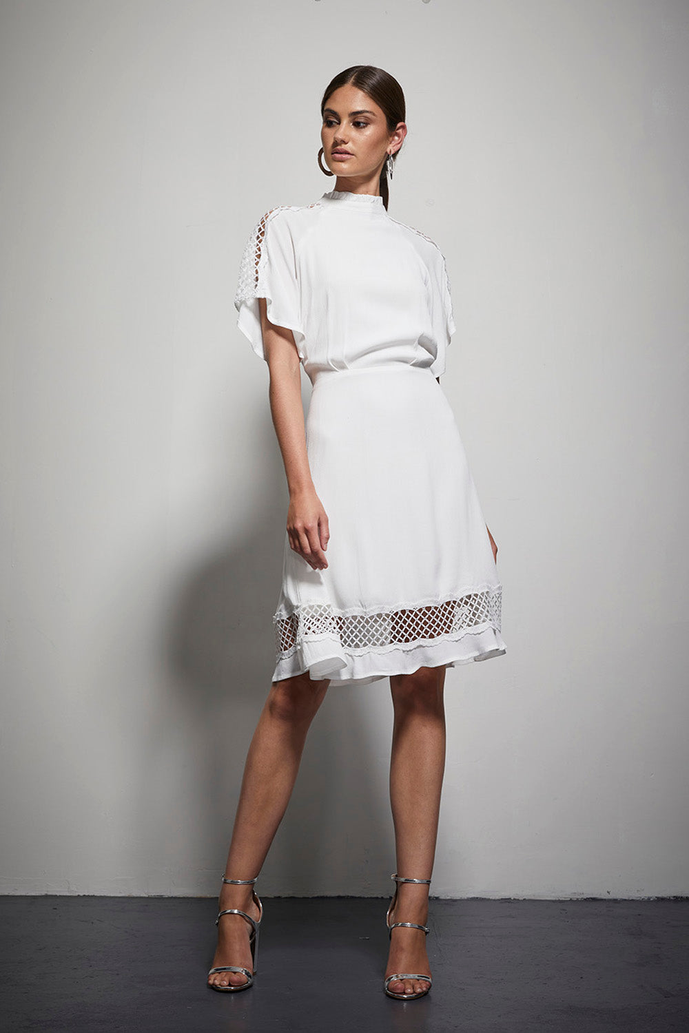 EXOTIC LATTICE SLV DRESS