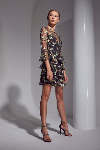 ALLURE FLORAL EMBRO DRESS