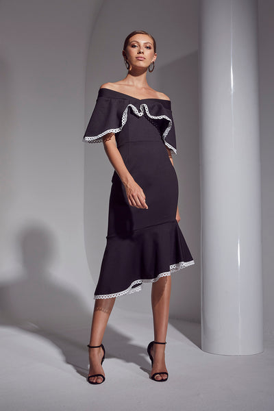 ALLURE CONTRAST DRESS