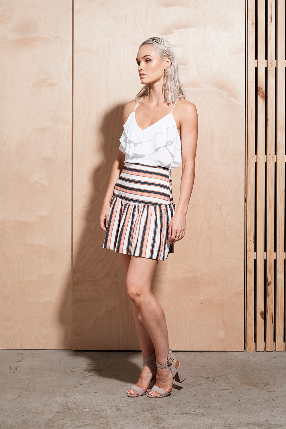 ILLUME STRIPE SKIRT