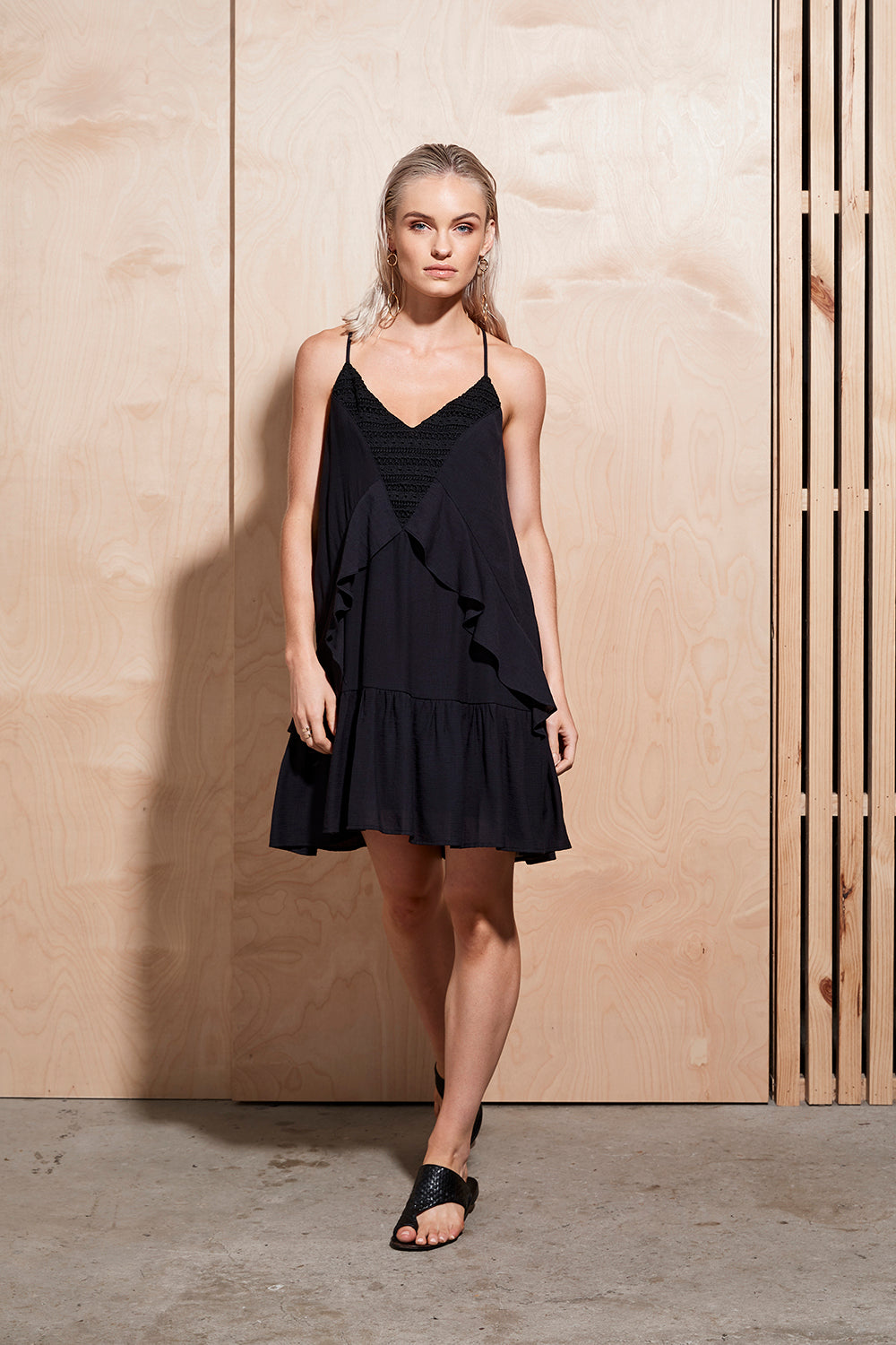 ILLUME LACE PANEL DRESS