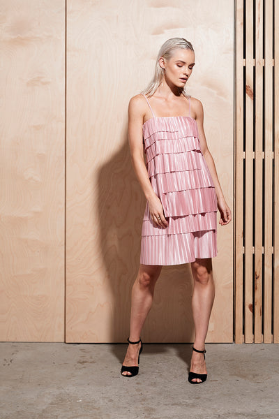 ILLUME PLEAT DRESS