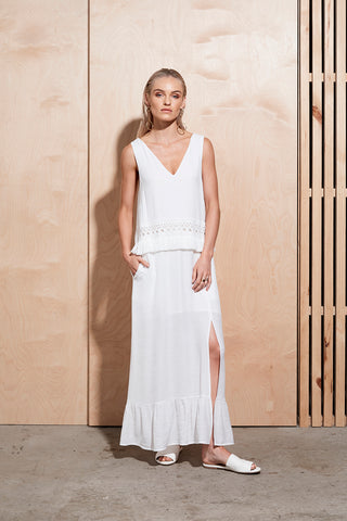 ILLUME TRIM LONG DRESS