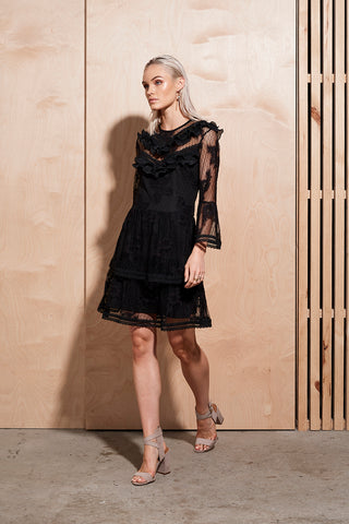 ILLUME LACE/TRIM DRESS