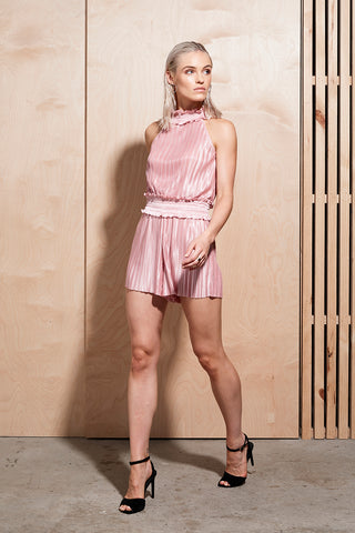ILLUME PLEAT ROMPER