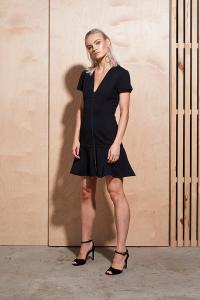 ILLUME ZIP FRONT DRESS