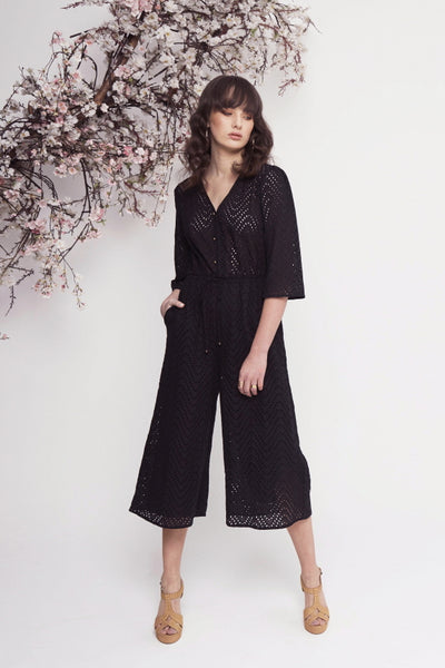 SOCIAL EMBROID JUMPSUIT