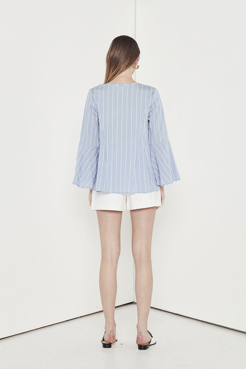 EMPIRE STRIPE L/S TOP