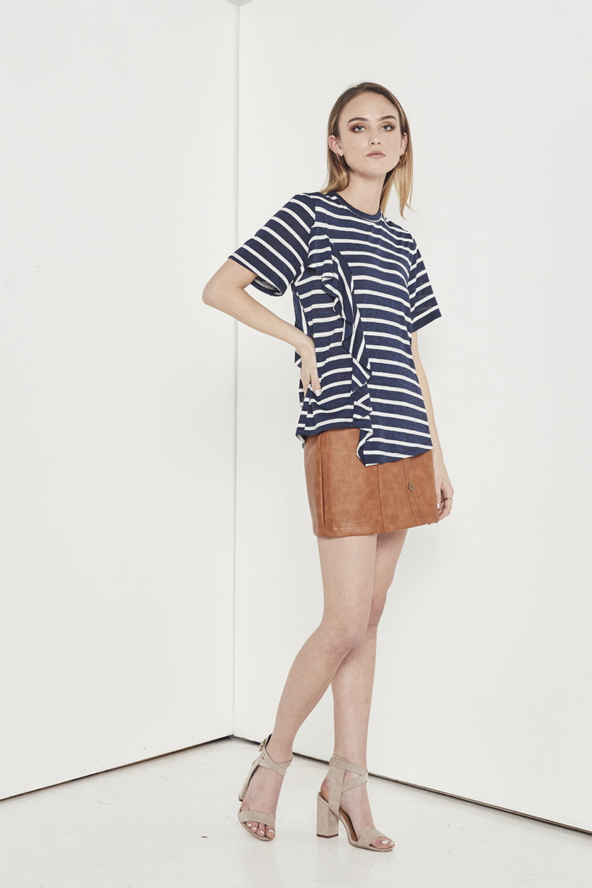 EMPIRE STRIPE JERSEY TOP