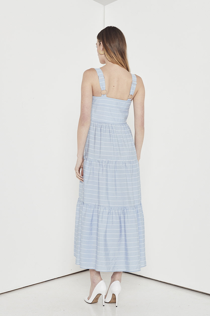 EMPIRE STRIPE LONG DRESS