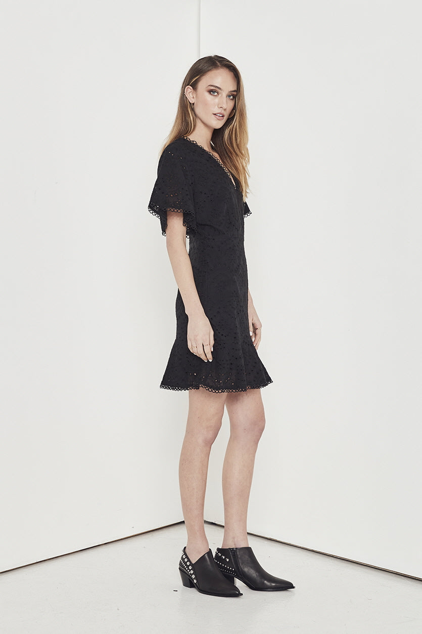 EMPIRE EYELET DRESS