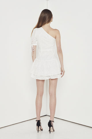 EMPIRE EYELET ONE/SH DRESS