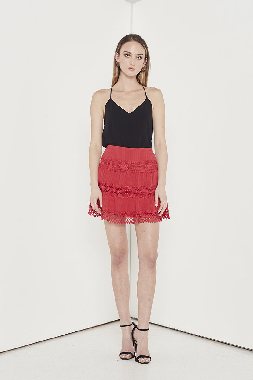 ASPIRE LACE TRIM SKIRT