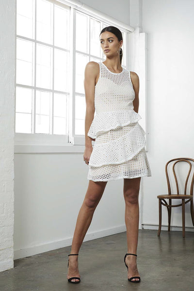 STATUS CROCHET MINI  DRESS
