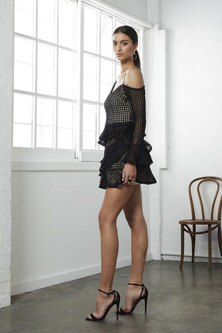 STATUS CROCHET DROP/SLV  DRESS