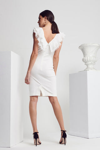 CLASS PLEAT-TRIM DRESS
