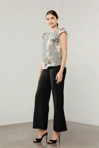 ENCHANT FLORA DBL/SLV TOP