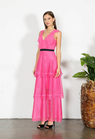 ELEMENT NET LONG DRESS