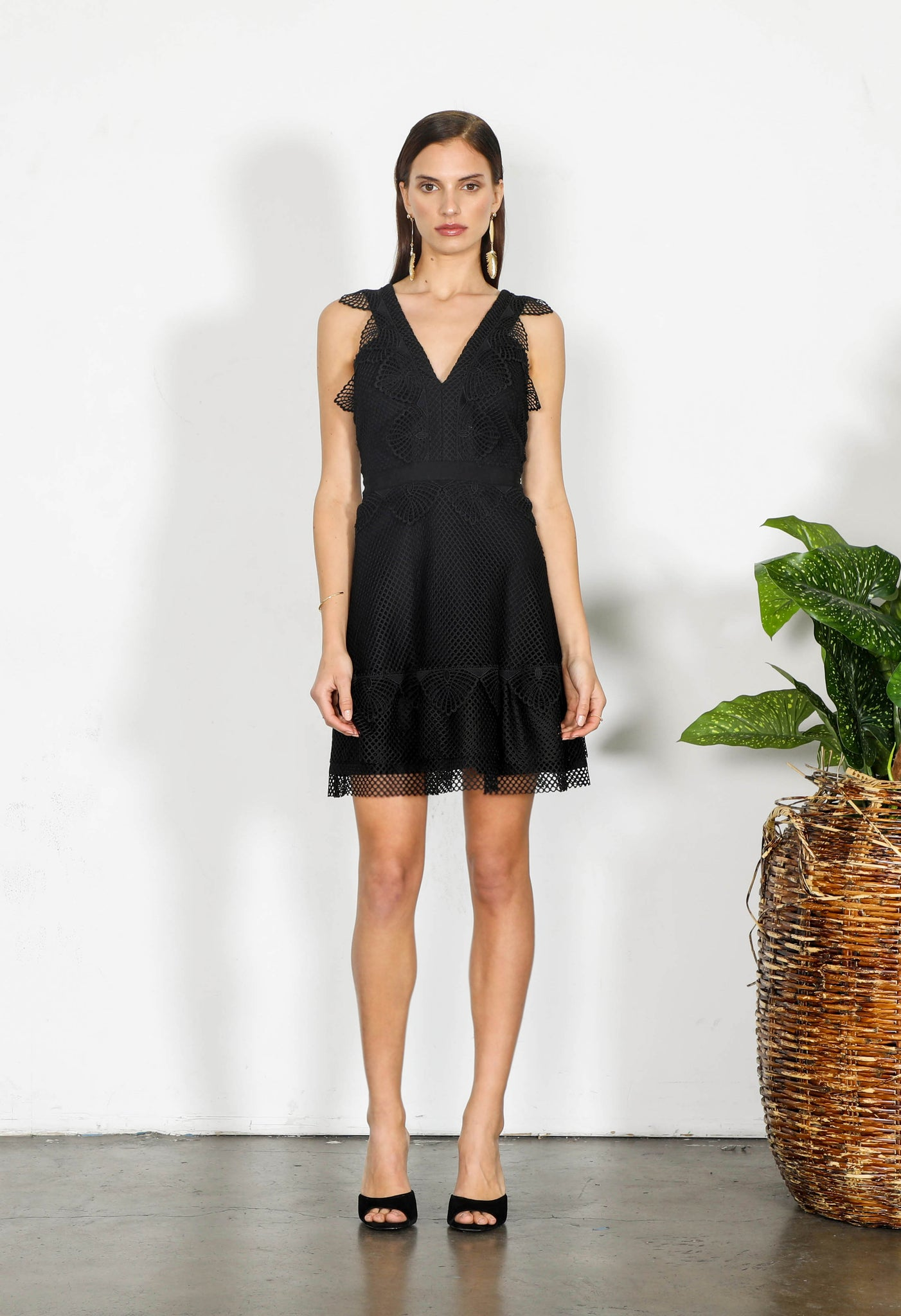 ELEMENT NET MINI DRESS