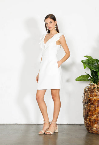 ELEMENT RUFFLE MINI DRESS