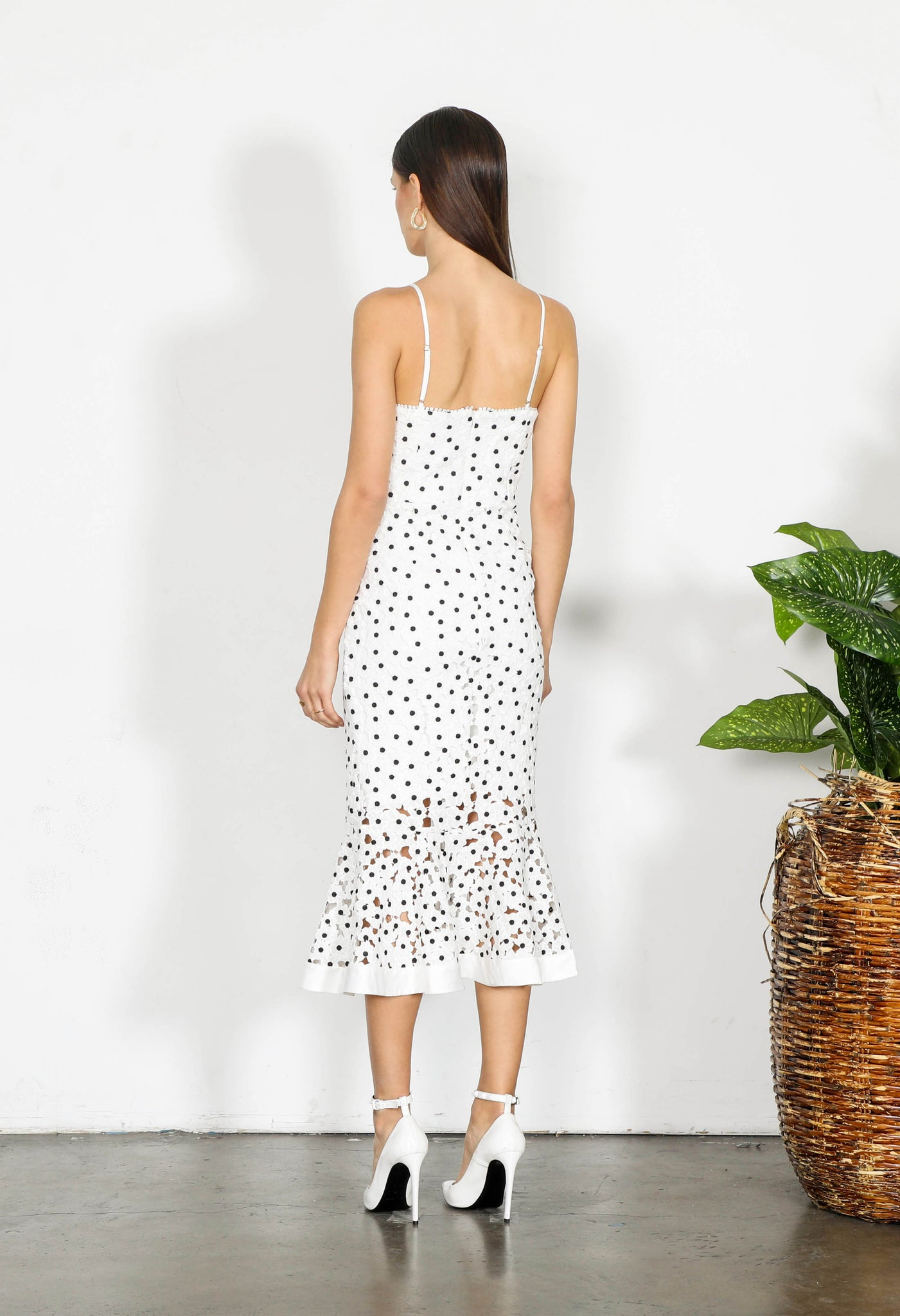 ELEMENT FLORA LACE MIDI DRESS