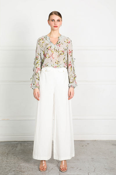 OBTAIN PEARL FLORAL BLOUSE