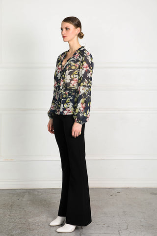 OBTAIN INK FLORAL BLOUSE