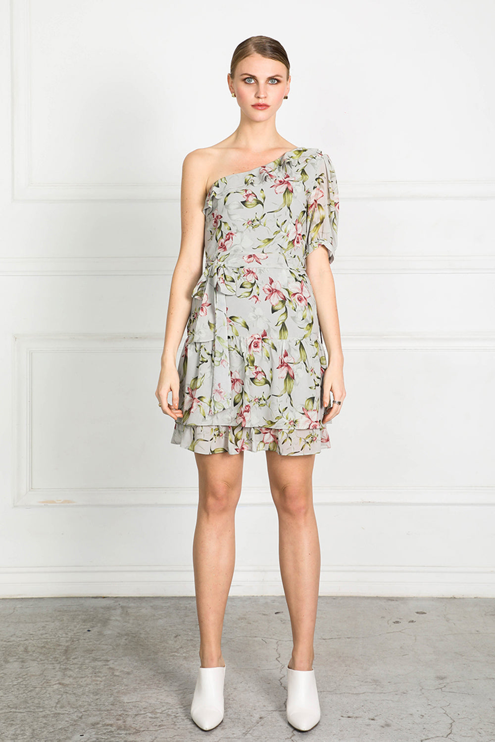 OBTAIN PEARL FLORAL ONE SH DRESS