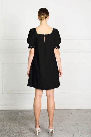 OBTAIN EMBROID SHIFT DRESS