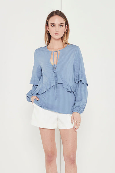 EMPIRE RUFFLE BLOUSE