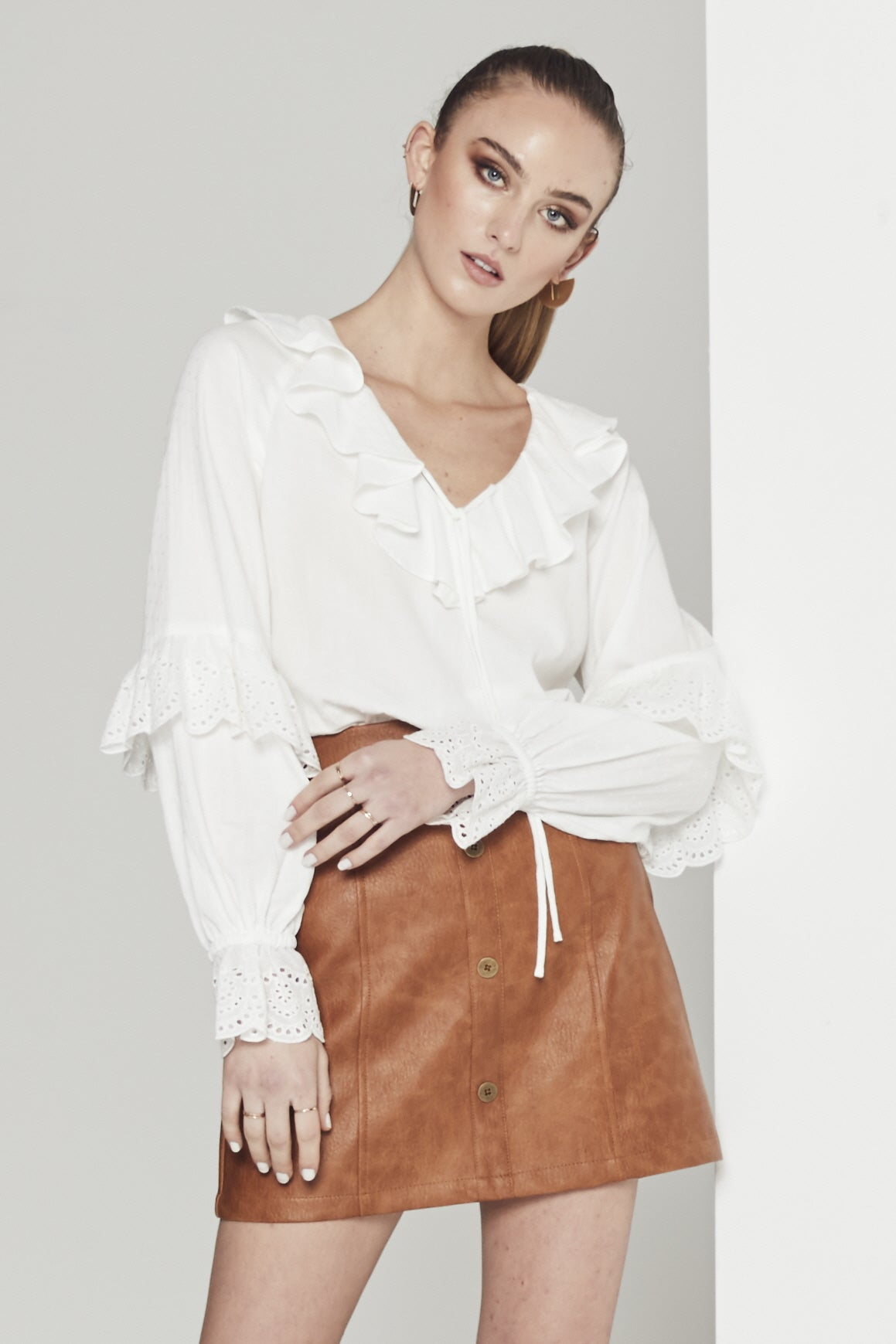 EMPIRE TRIM BLOUSE