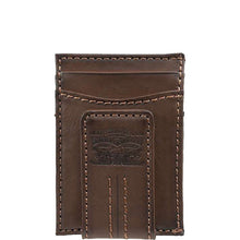 Levi's Magnetic Card Case Wallet - Brown