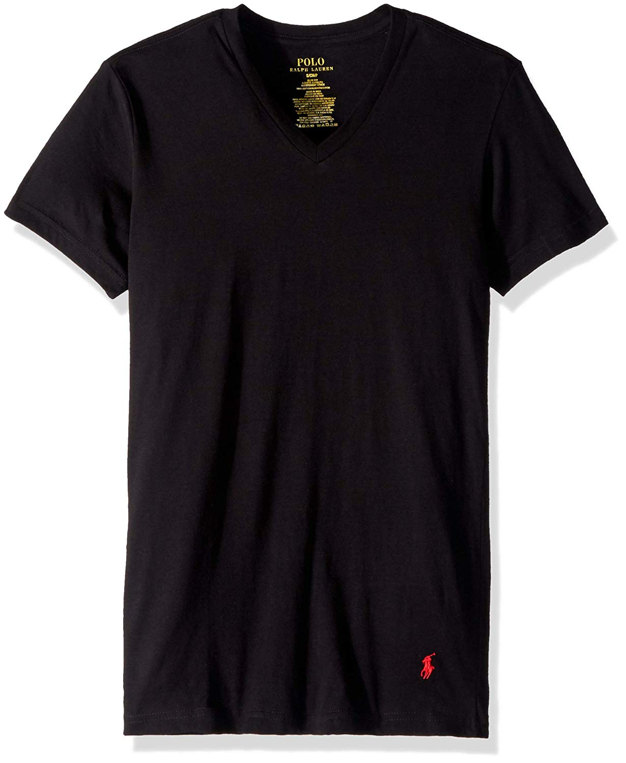 Cotton 3 Slim Men's Polo T Shirt Ralph Fit V Pack Neck Lauren CdstQxhr