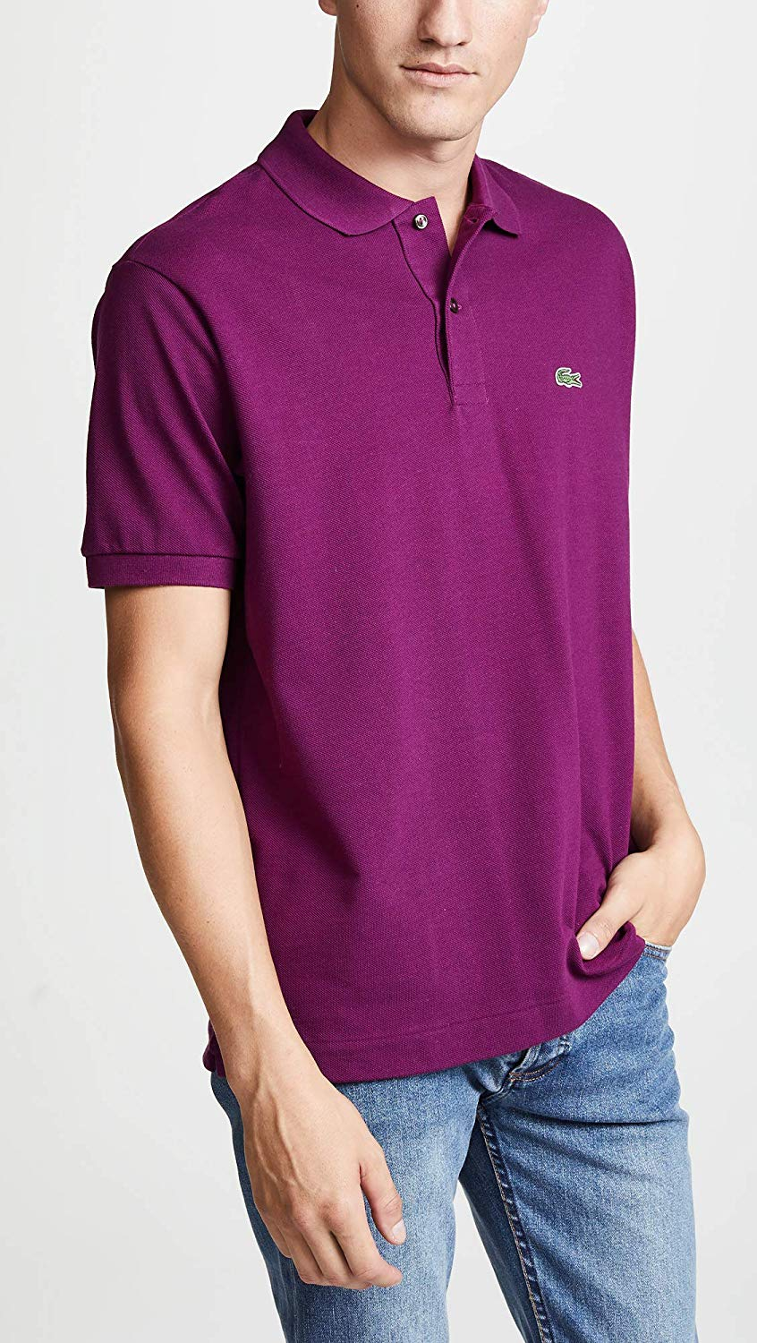 d89f745b5 Lacoste Men's Short Sleeve Pique L.12.12 Original Fit Polo Shirt ...