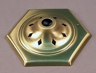 Lamp Cap Six Sided Brass