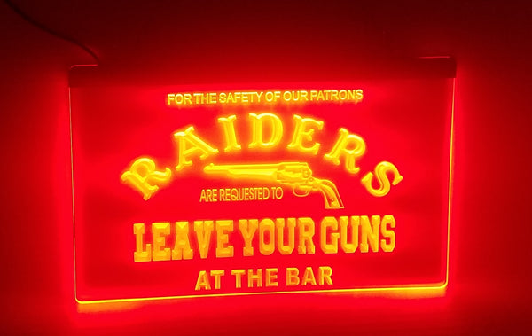 Texas Tech Raiders Leave Your Guns at the Bar LED Sign Red - 1st Door Imports