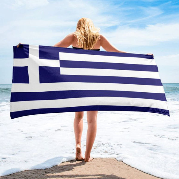 Greek Flag Beach Towel