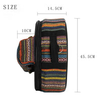 Snare Drum Backpack Tribal Knit with Sticks and Stand Pocket - 14 Inch